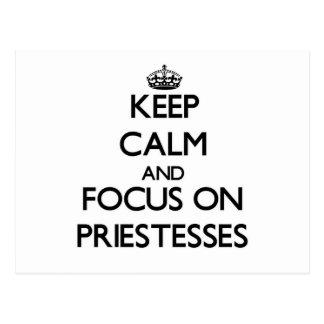 Keep Calm and focus on Priestesses Postcard