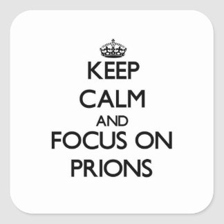 Keep Calm and focus on Prions Stickers