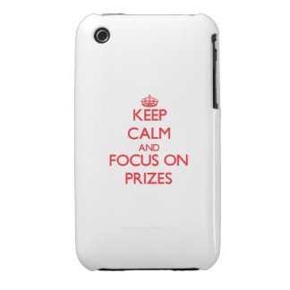 Keep Calm and focus on Prizes iPhone 3 Cases