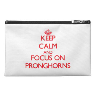Keep calm and focus on Pronghorns Travel Accessory Bag