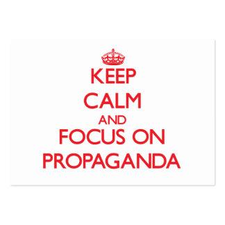 Keep Calm and focus on Propaganda Business Cards