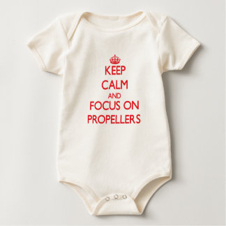 Keep Calm and focus on Propellers Baby Bodysuit