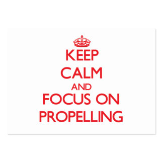 Keep Calm and focus on Propelling Large Business Cards (Pack Of 100)