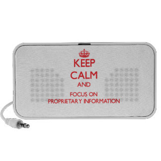 Keep Calm and focus on Proprietary Information Portable Speakers
