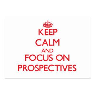 Keep Calm and focus on Prospectives Business Card Templates