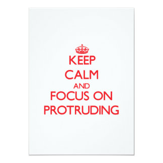 Keep Calm and focus on Protruding 5x7 Paper Invitation Card