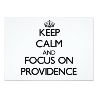Keep Calm and focus on Providence 5x7 Paper Invitation Card