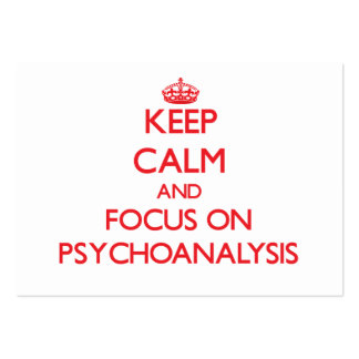 Keep Calm and focus on Psychoanalysis Large Business Cards (Pack Of 100)