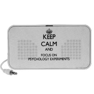 Keep Calm and focus on Psychology Experiments Travel Speaker