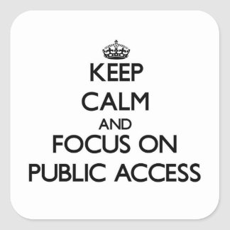Keep Calm and focus on Public Access Square Sticker