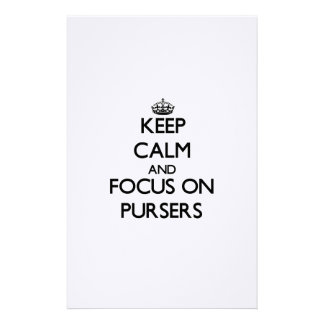 Keep Calm and focus on Pursers Personalized Stationery