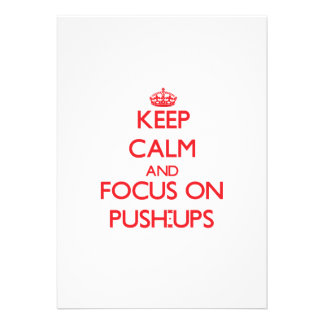 Keep Calm and focus on Push-Ups Announcement
