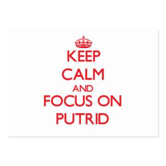 Keep Calm and focus on Putrid Business Card