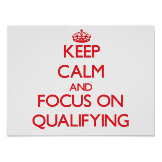 Keep Calm and focus on Qualifying Poster