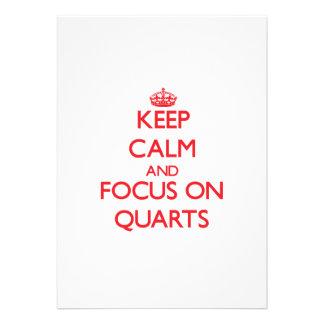 Keep Calm and focus on Quarts Invitations