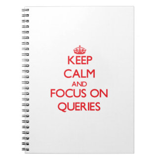 Keep Calm and focus on Queries Notebook