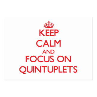 Keep Calm and focus on Quintuplets Large Business Cards (Pack Of 100)