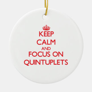 Keep Calm and focus on Quintuplets Christmas Tree Ornaments