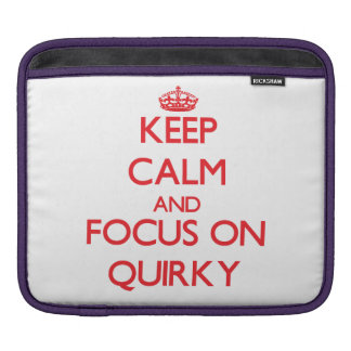 Keep Calm and focus on Quirky Sleeves For iPads