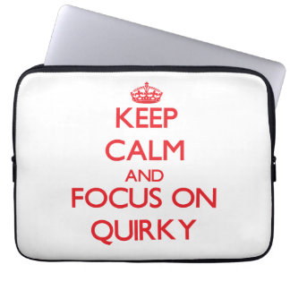 Keep Calm and focus on Quirky Laptop Sleeve
