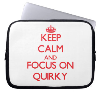 Keep Calm and focus on Quirky Laptop Computer Sleeve