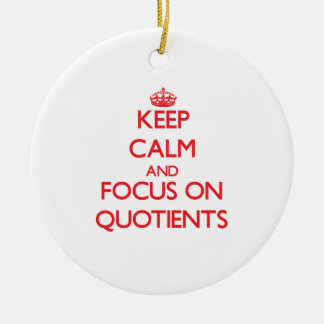 Keep Calm and focus on Quotients Double-Sided Ceramic Round Christmas Ornament