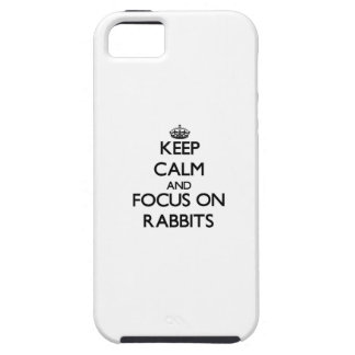 Keep Calm and focus on Rabbits iPhone 5 Cover