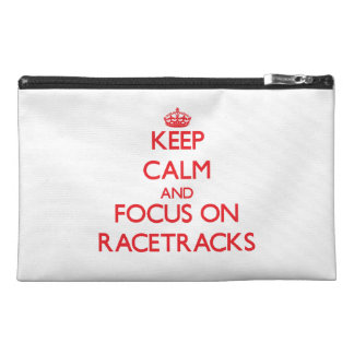 Keep Calm and focus on Racetracks Travel Accessories Bag