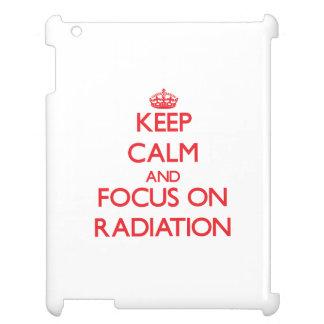 Keep Calm and focus on Radiation iPad Case