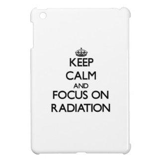 Keep Calm and focus on Radiation iPad Mini Covers