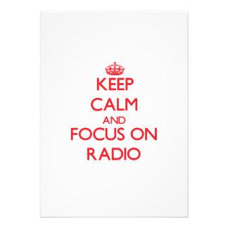 Keep Calm and focus on Radio Custom Announcement