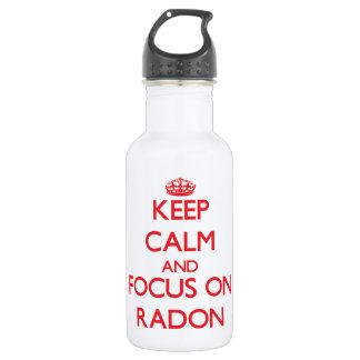 Keep Calm and focus on Radon 18oz Water Bottle