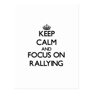 Keep calm and focus on Rallying Postcard