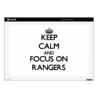 Keep Calm and focus on Rangers Skins For Laptops