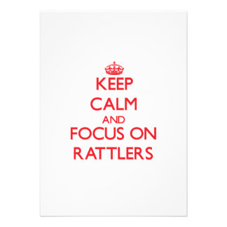 Keep Calm and focus on Rattlers Announcements