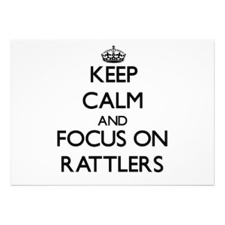 Keep Calm and focus on Rattlers Invitations