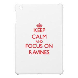 Keep Calm and focus on Ravines iPad Mini Cover