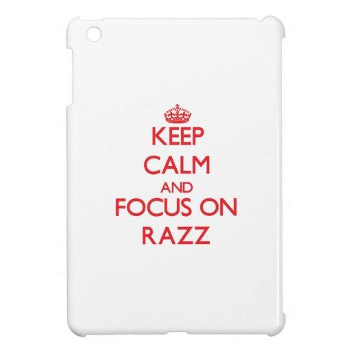 Keep Calm and focus on Razz iPad Mini Cover