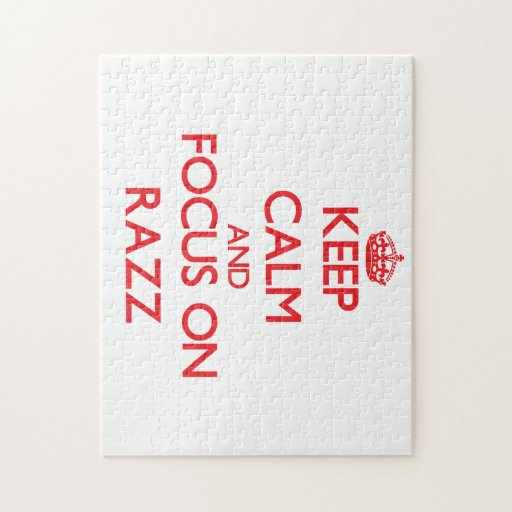 Keep Calm and focus on Razz Puzzles