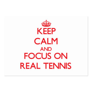 Keep calm and focus on Real Tennis Large Business Cards (Pack Of 100)