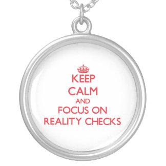Keep Calm and focus on Reality Checks Jewelry