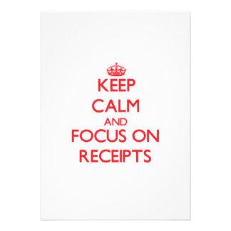 Keep Calm and focus on Receipts Card