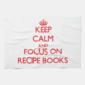 Keep Calm and focus on Recipe Books Towel