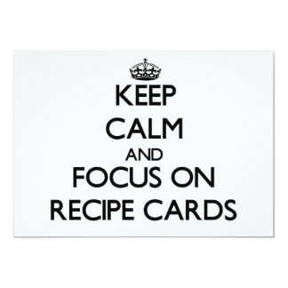 Keep Calm and focus on Recipe Cards