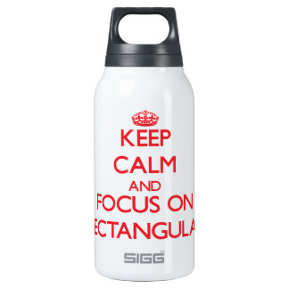 Keep Calm and focus on Rectangular SIGG Thermo 0.3L Insulated Bottle