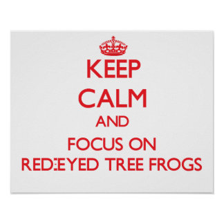 Keep calm and focus on Red-Eyed Tree Frogs Print