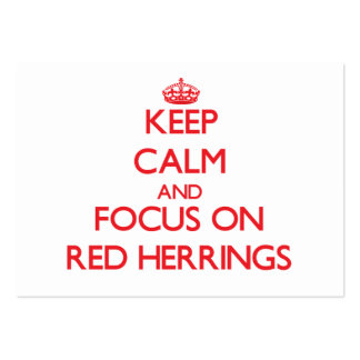 Keep Calm and focus on Red Herrings Large Business Cards (Pack Of 100)