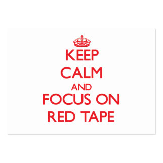 Keep Calm and focus on Red Tape Large Business Cards (Pack Of 100)
