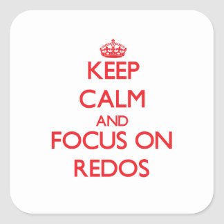 Keep Calm and focus on Redos Sticker