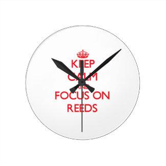 Keep Calm and focus on Reeds Round Wallclocks